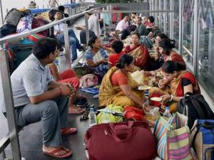 Air passengers during nation-wide strike called by trade unions
