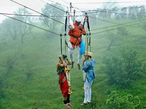 Jaydeep Jadhav and his bride Reshma Patil tie knot onto nylon-fibre ropes