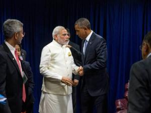 President Barack Obama and Indian Prime Minister Narendra Modi