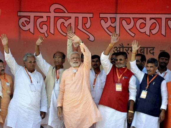 Narendra Modi, Rally in Bihar, Sasaram, India, Bihar, politics, election, politics