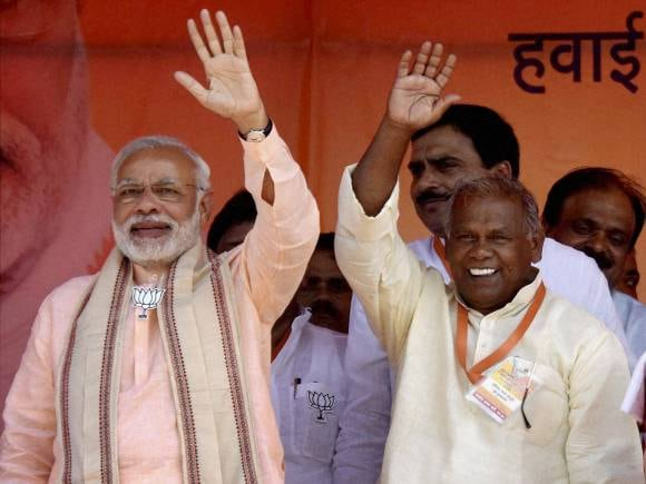 Narendra Modi, Rally in Bihar, Sasaram, Jitan Ram Manjhi, India, Bihar, politics, election, politics