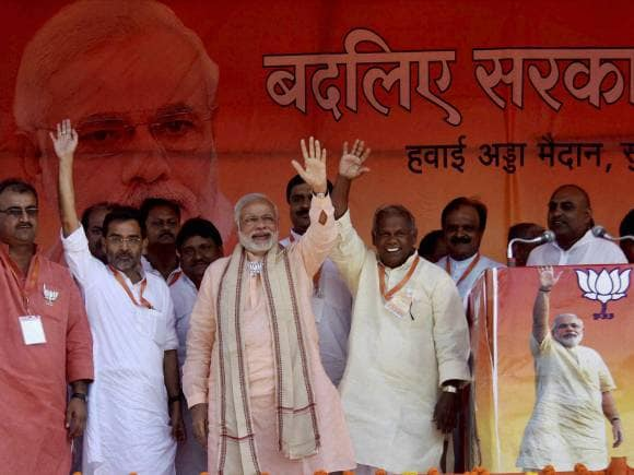 Narendra Modi, Rally in Bihar, Jitan Ram Manjhi, Sasaram, India, Bihar, politics, election, politics
