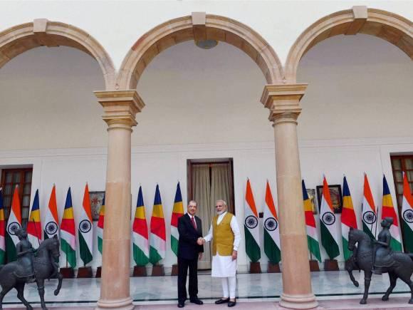 Seychelles President, President of Seychelles, Prime Minister of India, Narendra Modi, James Alix Michel, Ceremonial Reception, Rashtrapati Bhawan