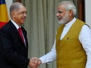 Prime Minister Narendra Modi with President of the Seychelles, James Alix Michel