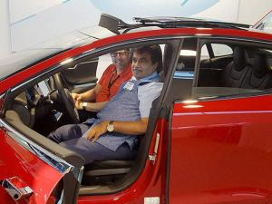 Nitin Gadkari visits the Tesla electric car manufacturing unit, in San Francisco