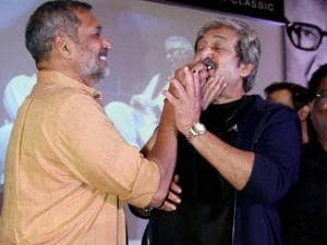 Nana Patekar and Mahesh Manjrekar during the success party of Marathi film Natsamrat in Mumbai