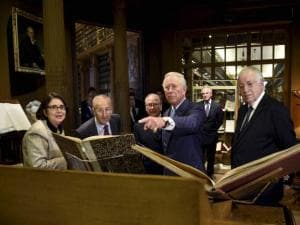 Britain's Prince Charles visits the French Academy's library
