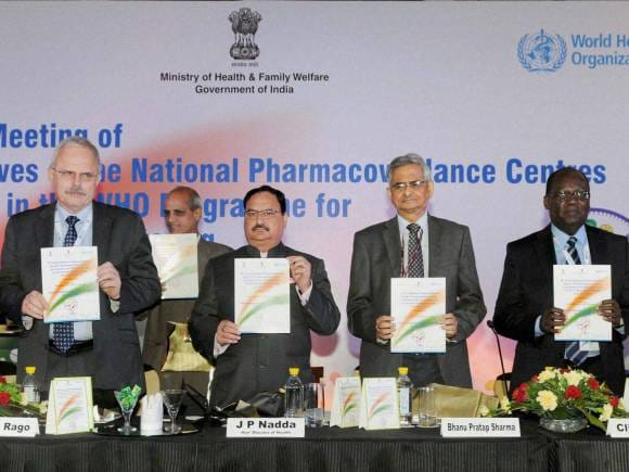 J P Nadda, B P Sharma, 38th Annual Meeting of Representatives of the National Pharmacovigilance Centres