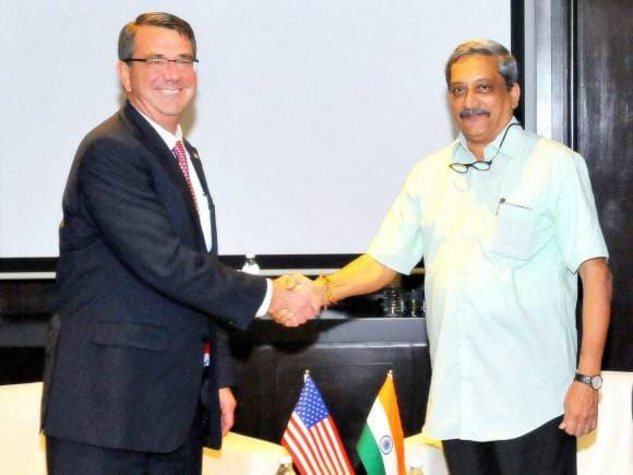Manohar Parrikar, US Secretary of Defence, Ashton Carter