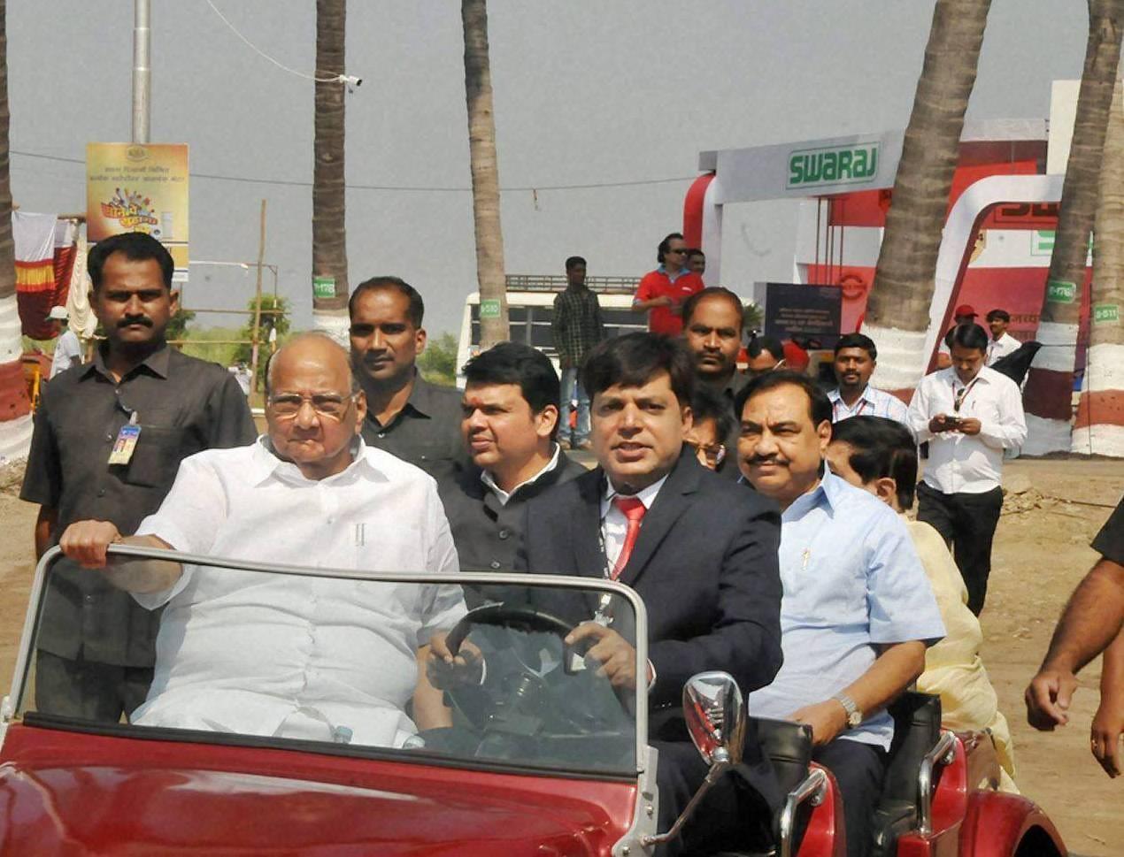 NCP President, Sharad Pawar, Devendra Fadnavis, Agriculture Exhibition in Baramati, Maharashtra