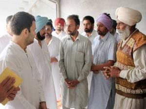 Rahul Gandhi with party leader Captain Amarinder Singh