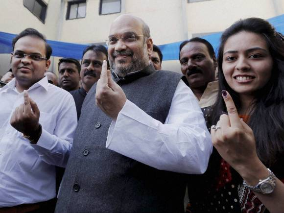 Amit Shah, Ahmedabad Municipal Corporation election