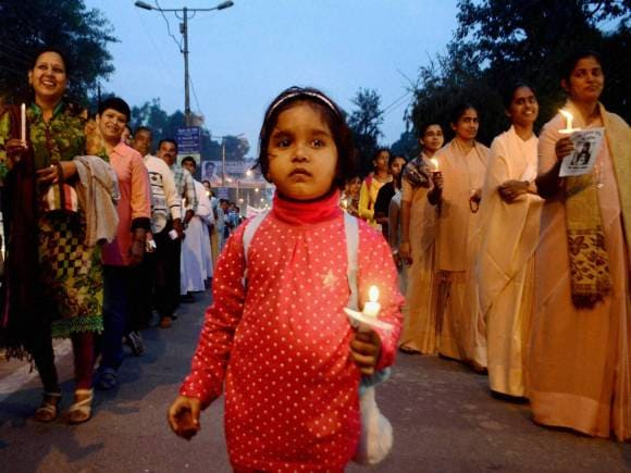 Catholic devotees, The Feast of Christ the King, Allahabad