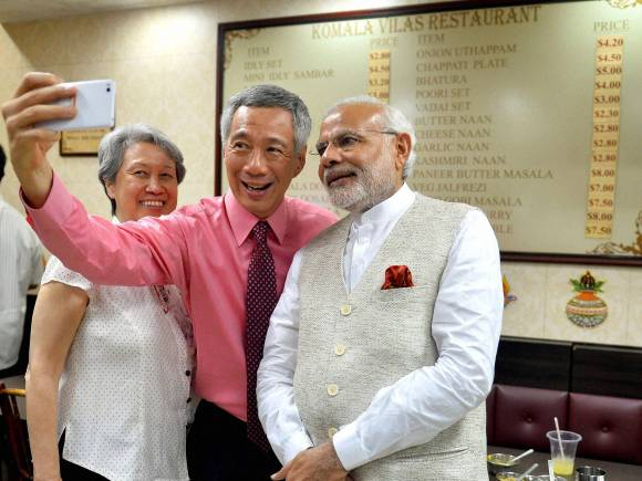 Prime Minister Narendra Modi, Singapore, Singaporean counterpart Lee Hsien Loong