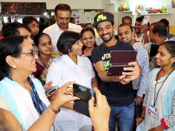 Ajinkya Rahane, Ravi Shastri, Tata Memorial Hospital