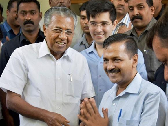 Arvind Kejriwal, Pinarayi Vijayan, BJP, CPI, AAP, Kerala House, Delhi Chief Minister, Kerala Chief Minister