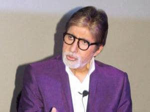 Amitabh Bachchan interacts with media during promotion of  Pink