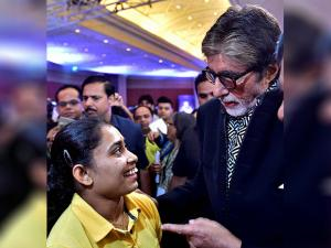 Amitabh Bachchan talks with Gymnast  Dipa Karmakar