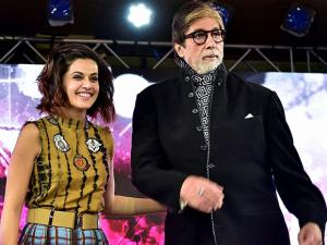 Amitabh Bachchan with co-star of film 'Pink' Taapsee Pannu