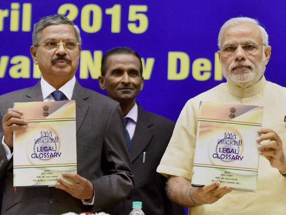 Prime Minister of India, Narendra Mod, Union Law Minister, Sadananda Gowda, Chief Justice of India, H L Dattu