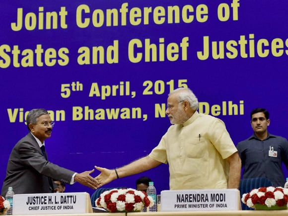 Prime Minister of India, Narendra Mod, Chief Justice of India, H L Dattu