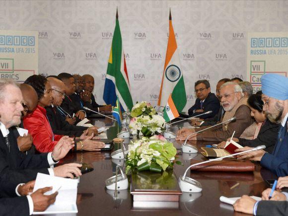 Narendra Modi,  South African President, Jacob Zuma, Russia, India, BRICS, Pakistan, 7th BRICS Summit, Summit, Iran, Vladimir Putin, Ufa