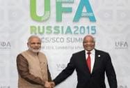 Narendra Modi with Jacob Zuma