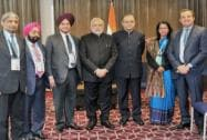 Prime Minister Narendra Modi and Finance Minister Arun Jaitley with Indian CEOs