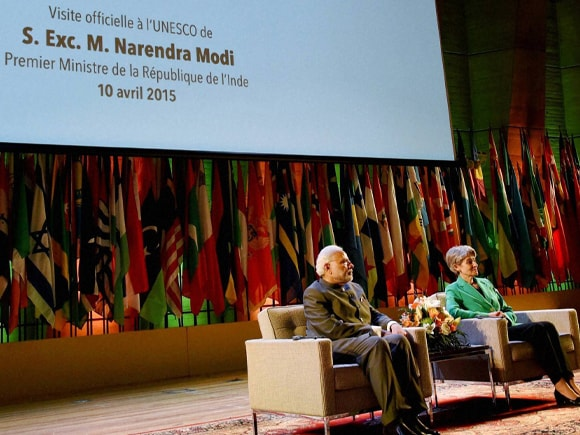 Prime Minister of India, Narendra Mod, PM Modi, Modi, Paris, UNESCO, UNESCO Director-General, Irina Bokova