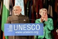 Prime Minister Narendra Modi with UNESCO Director-General Irina Bokova
