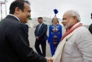 Prime Minister Narendra Modi being received by his Kazakhstan counterpart Karim Massimov
