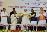 Prime Minister Narendra Modi along with Jharkhand CM Raghubar Das and state Governor Governor Draupadi Murmu