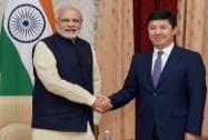 Prime Minister Narendra Modi and Kyrgyz counterpart Temir Sariyev