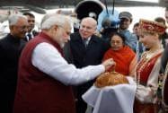 PM Modi arrives in Russia