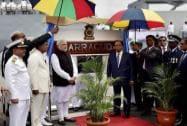 Prime Minister Narendra Modi and his Mauritian counterpart Anerood Jugnauth