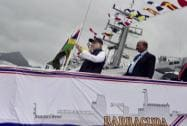 Prime Minister Narendra Modi at the Commissioning of Offshore Patrol Vessel Barracuda in Port Louis