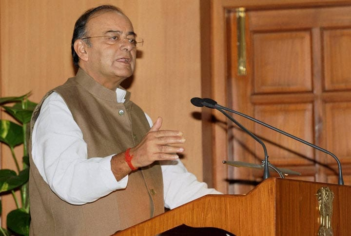 Union Finance  Minister, Arun Jaitley, addresses, NDA, MP's,  High tea, hosted, Prime Minister, Narendra Modi