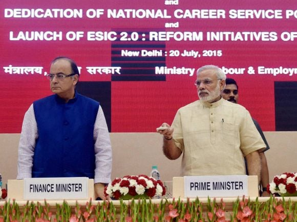 Prime Minister of India, Narendra Modi, Indian Labour Conference, Finance Minister of India, Arun Jaitley, Labour, Minister of State for Labour and Employment, Bandaru Dattatreya, ESIC, NCS, New Delhi, 46th Indian Labour Conference