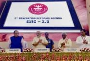 Prime Minister Narendra Modi at the launch of the ESIC 2.0: Reform Initiatives of ESIC