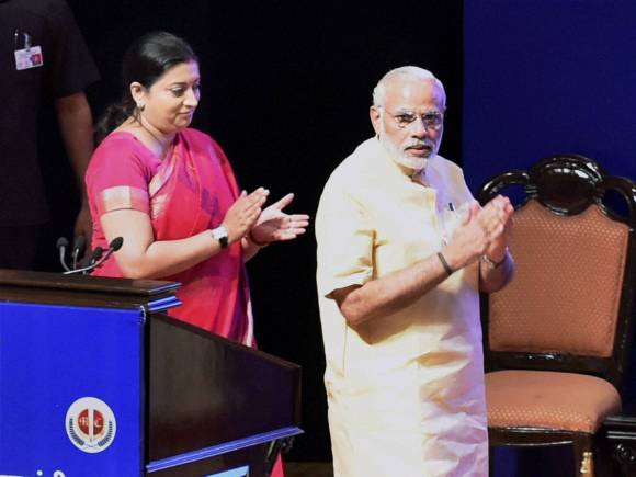 Prime Minister of India, Narendra Modi, Teachers Day, Dr Sarvepalli Radhakrishnan, HRD Minister of India, Smriti Irani, Manekshaw Centre, New Delhi