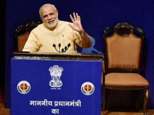 PM Modi interacts with school children on eve of Teacher's Day at Manekshaw Centre
