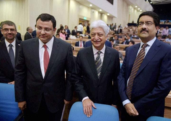 Chairman of Tata Sons, Cyrus Mistry , Wipro Chairman, Azim Premji, Aditya Birla Group, Chairman, Kumar Mangalam Birla