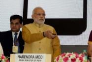"Prime Minister Narendra Modi at the launch of the ""Make in India Mission"""