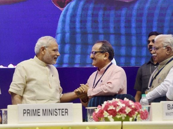Prime Minister of India, Narendra Modi, Smart City, Atal Mission, J&K Deputy Chief Minister, Nirmal Singh, Khattar, Haryana CM
