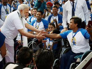 President Pranab Mukherjee inaugurates mass Yoga event at Rashtrapati Bhavan