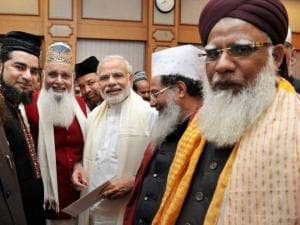 Narendra Modi meets delegation of Sufi scholars at PM House