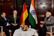 Prime Minister Narendra Modi with German Vice-Chancellor and Minister of Economics and Energy Sigmar Gabriel