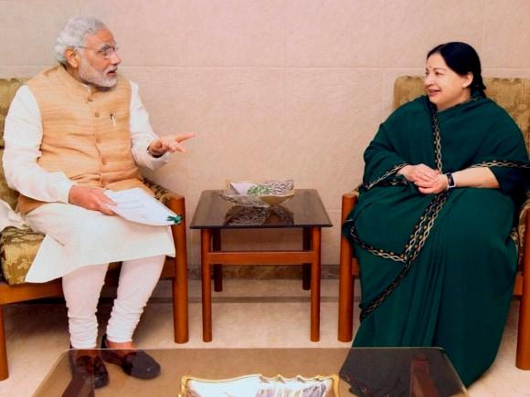 Narendra Modi, Jayalalithaa, PM meets Jayalalithaa, Modi meets Jayalalithaa, Chennai, Tamil Nadu