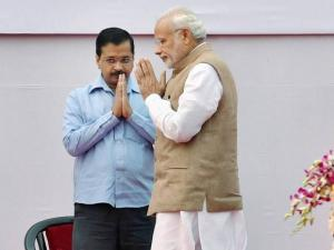 Prime Minister Narendra Modi and Delhi Chief Minsiter Arvind Kejriwa