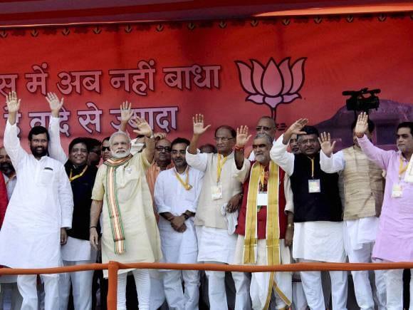 Narendra Modi, Parivartan Rally, Ramvilas Paswan, Modi's Bhagalpur rally, Grand alliance, Bihar Assembly elections, Bihar, Politics, Election